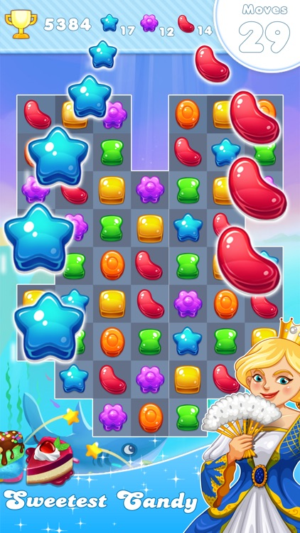 Candy Frozen Match 3 Puzzle screenshot-1