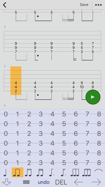 Guitar Tabs X - tabs editor screenshot-3