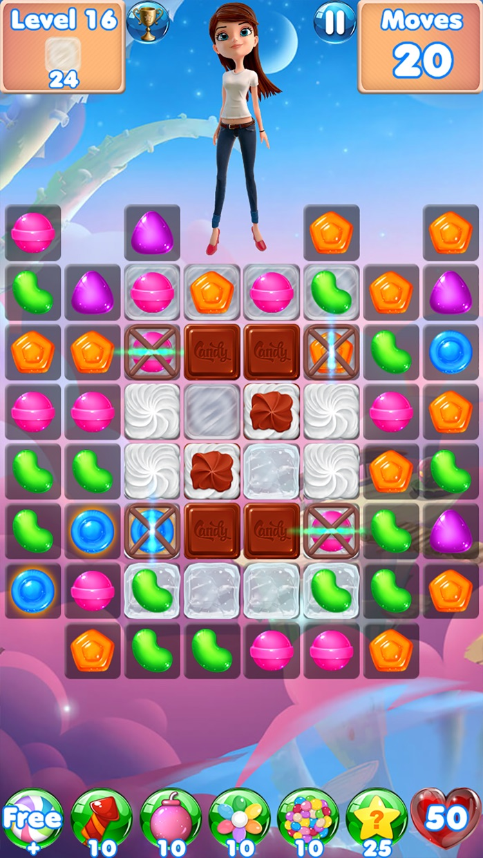 Candy Girl - Fun match 3 games Screenshot