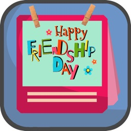 Frinedship Day Stickers,Badge And Photo Frame