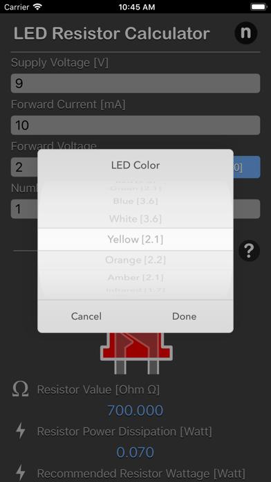 LED Resistor Calculator Plus screenshot three