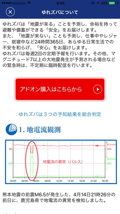 ゆれズバー地震の予報、予知、予測・防災スクリーンショット