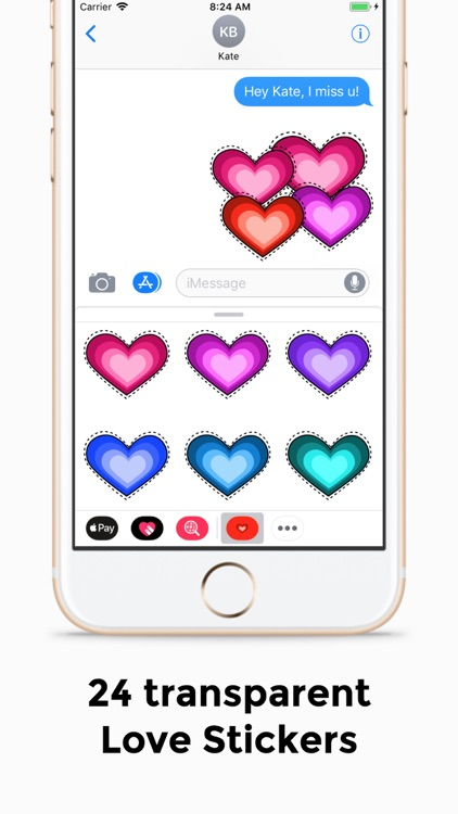 Valentine Day Stickers! Hearts screenshot-2