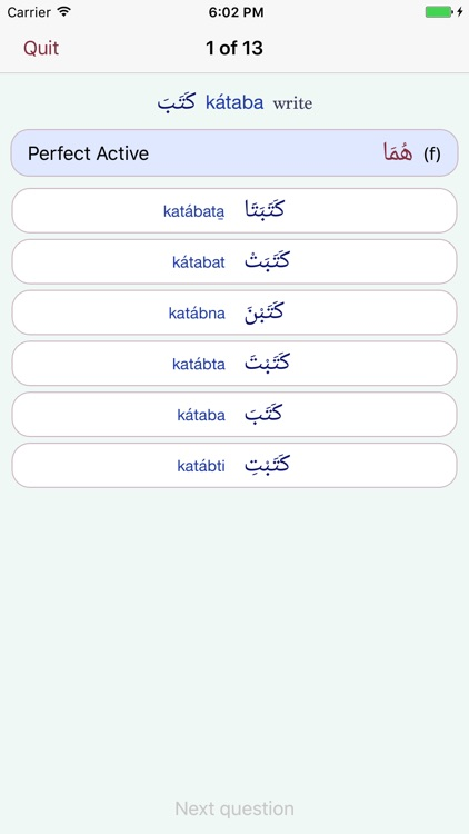 CAVE Arabic Verb Conjugator screenshot-2
