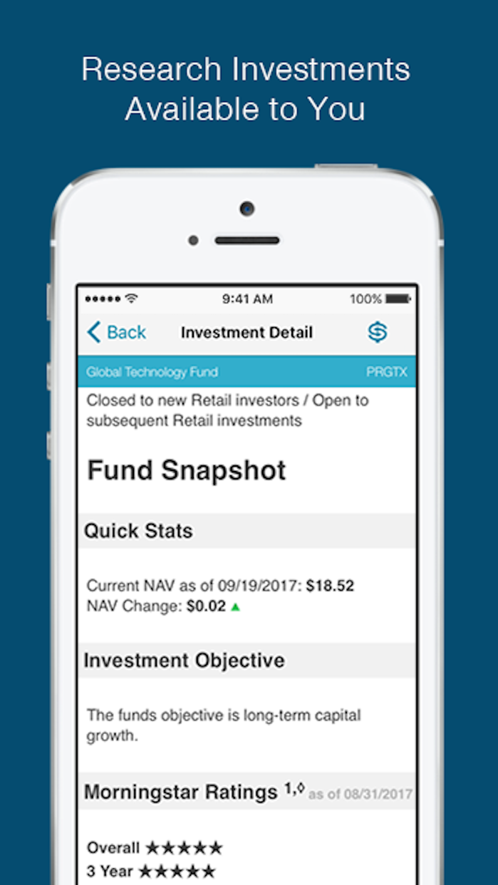 T. Rowe Price Personal® Screenshot