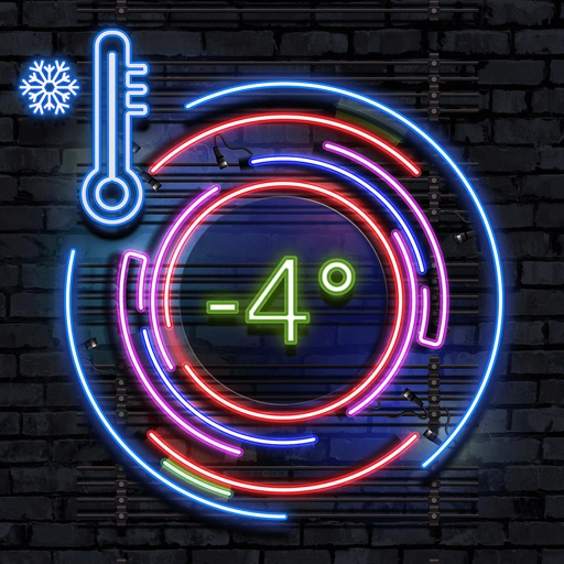 Neon Thermometer
