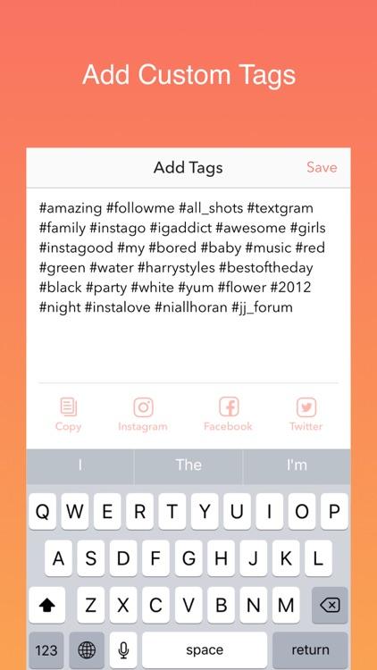Hot Hashtags for Instagram, Facebook & Twitter screenshot-3
