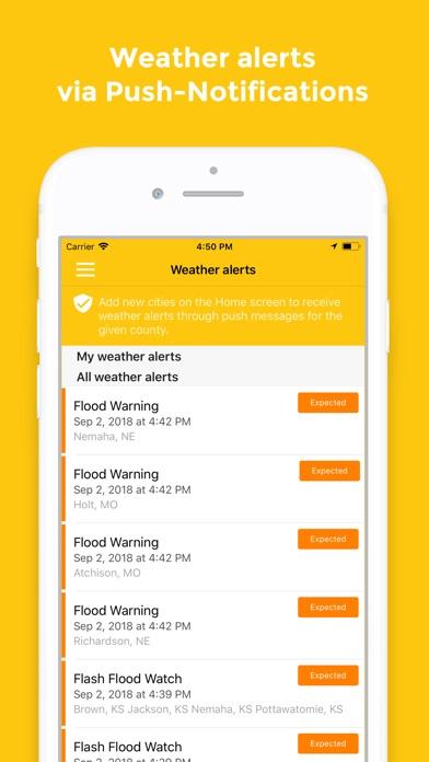 Weatherwheel review screenshots