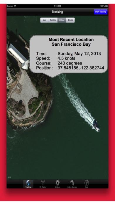 Powerboat GPS Data Logger screenshot one