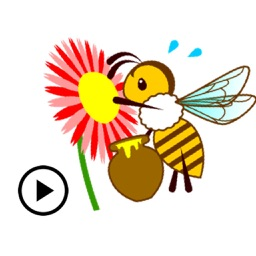Animated Honey Bee Sticker