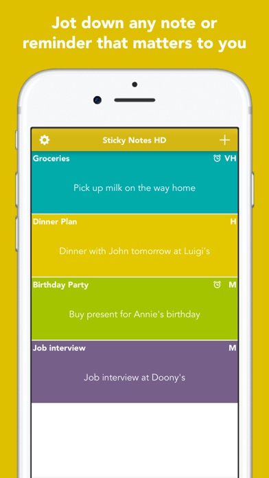 Sticky Notes Hd review screenshots