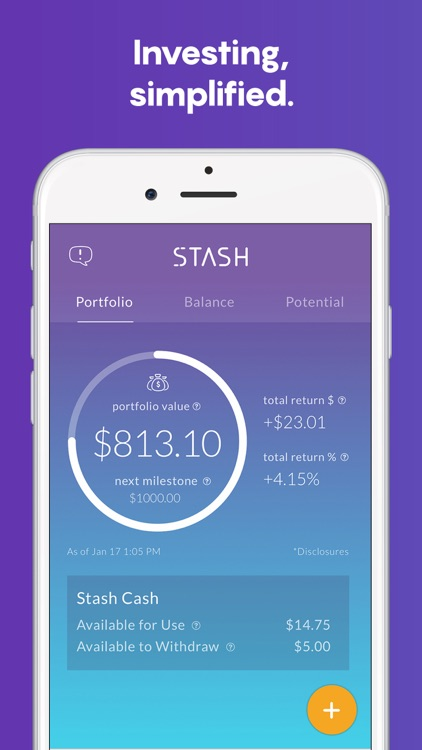 Stash: Invest, Learn, & Save