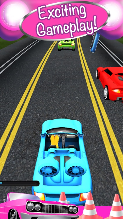 3D Fun Girly Car Racing