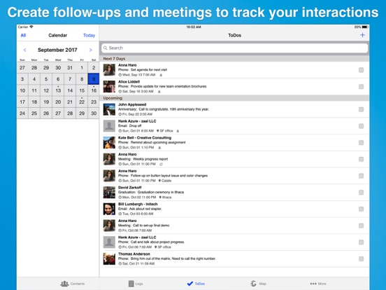 Screenshot #5 pour Contacts Journal CRM for iPad