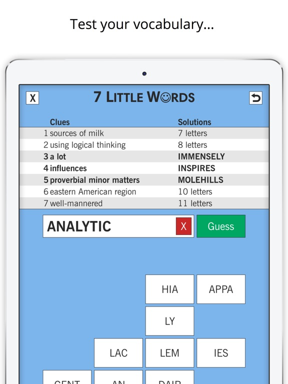 7 Little Words: Word Puzzles для iPad
