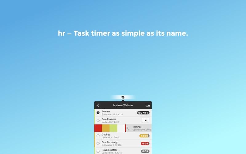 hr - Task timer Screenshots