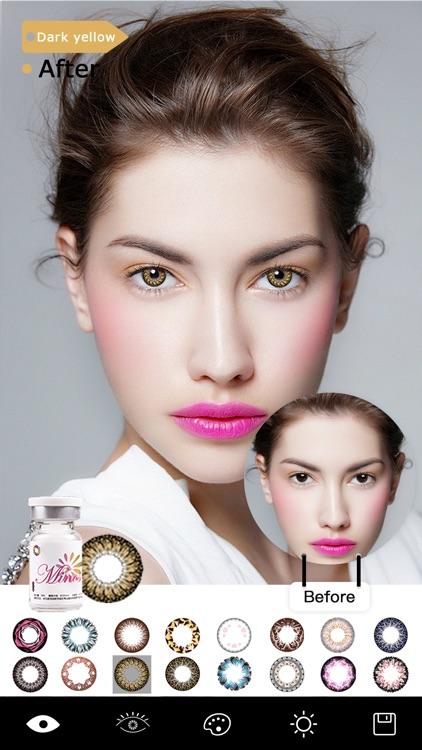 Magic Eye Color-Face Makeup screenshot-3