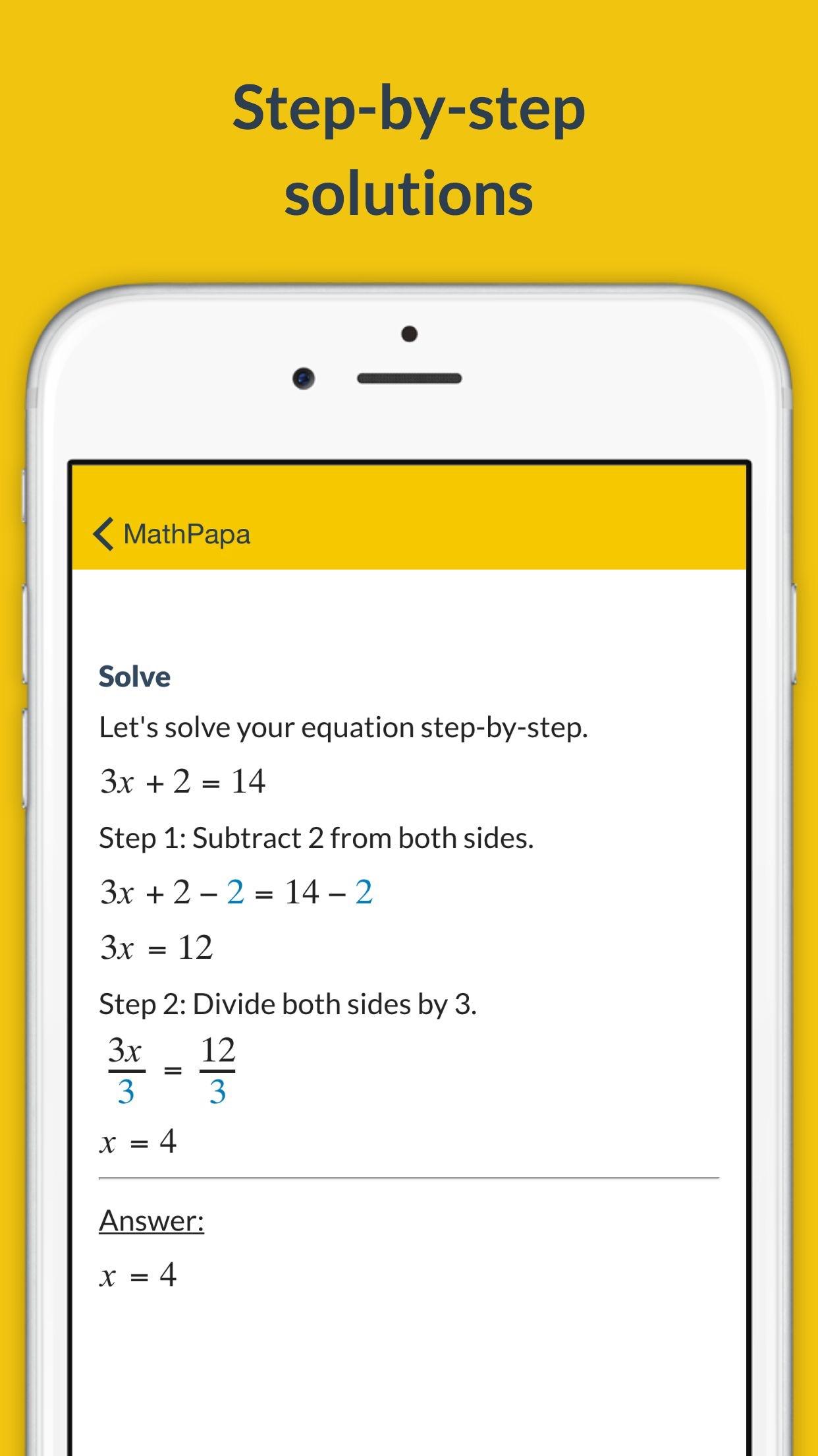 MathPapa - Algebra Calculator Screenshot
