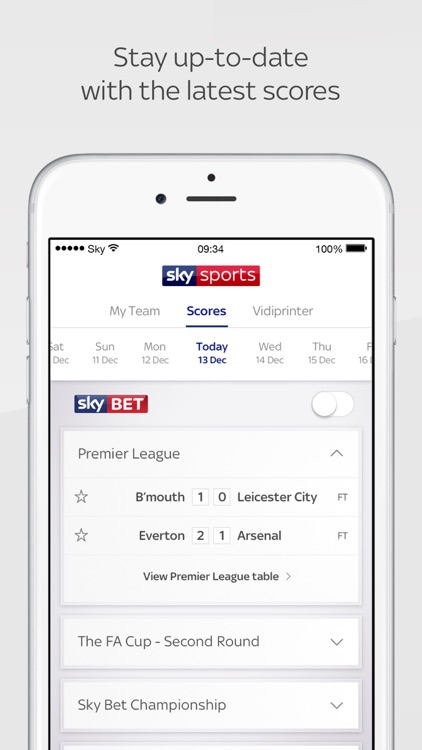 Sky Sports Score Centre screenshot-1