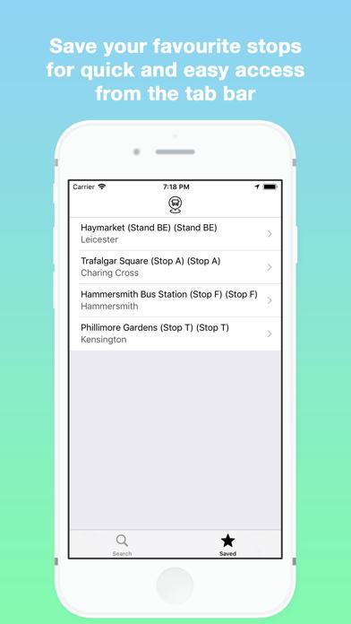 Next Bus - Live Bus Timetables screenshot four