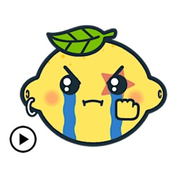 Animated Lemon Emoji Sticker