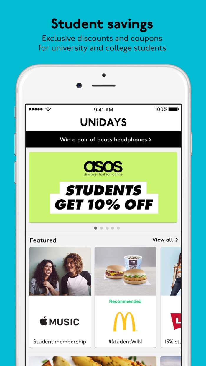 UNiDAYS: Student Deals Screenshot