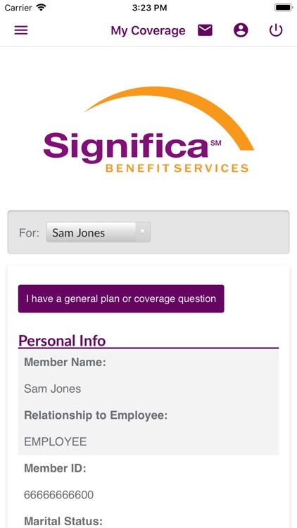 Significa Benefit Services, In screenshot-3