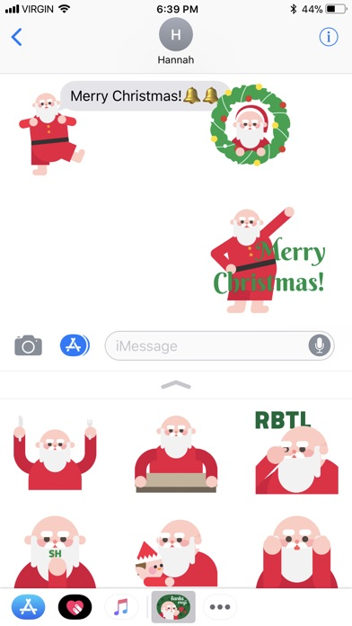 screenshot 6 for santamoji santa emoji