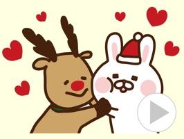 動く!クリスマス&お正月〜出っ歯うさぎ〜