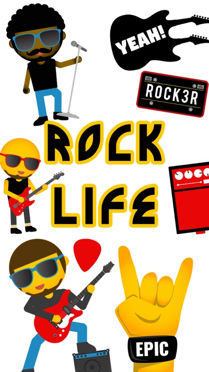 Rock Music Emoji App By Yes Man Enterprises, Inc