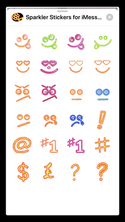 Sparkler Stickers for iMessage screenshot-5