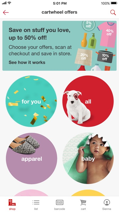 Target app image