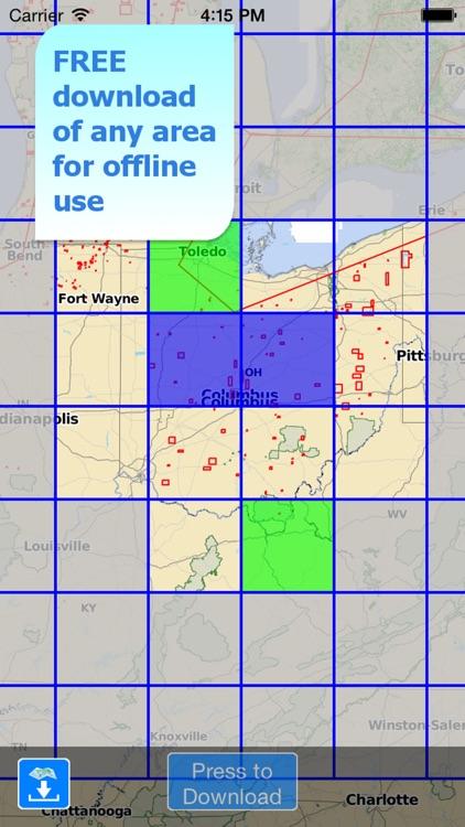 Aqua Map Ohio Lakes GPS HD screenshot-4