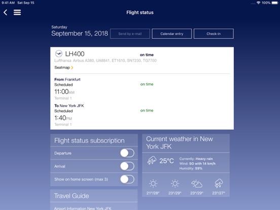 Lufthansa iPad