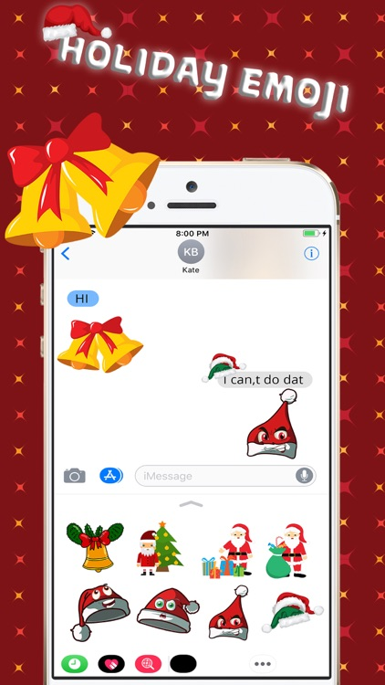 Christmas Holiday 3D Emoji screenshot-0