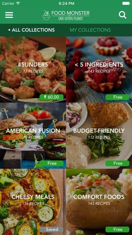 Food Monster - Vegan Recipes screenshot-0