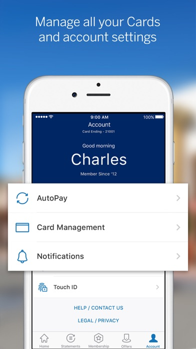 Access your American Express account from virtually anywhere with the Amex Mobile app. Take advantage of what your personal, Small Business, and Corporate accounts have to offer: track spending.