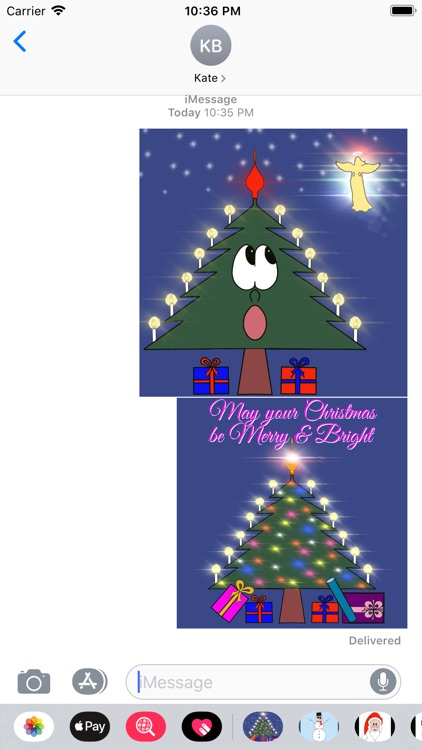 Christmas Tree Emotion sticker