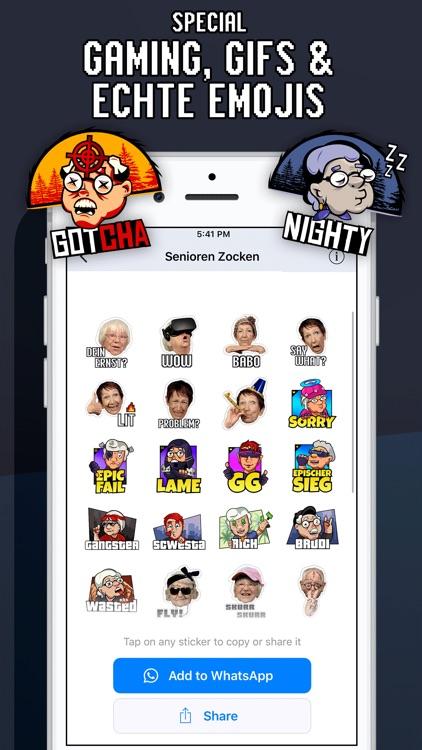 Senioren Zocken Emojis App screenshot-3