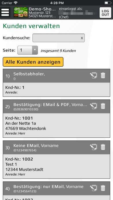 Bringbutler-KassenprogrammScreenshot von 5