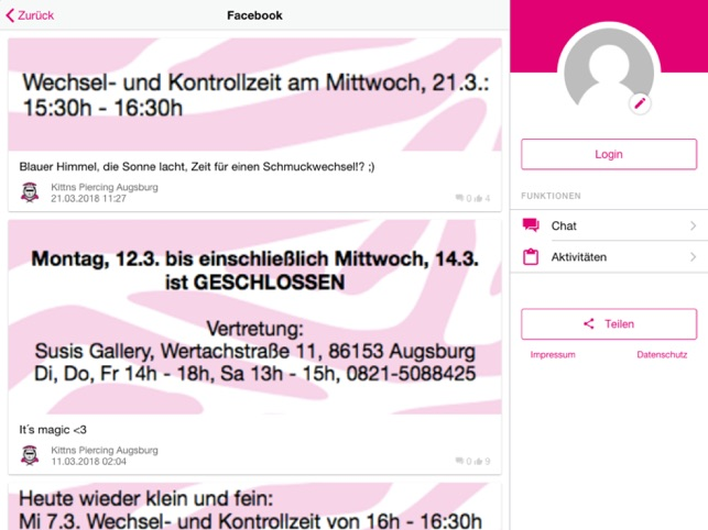 Augsburg chat Creating a