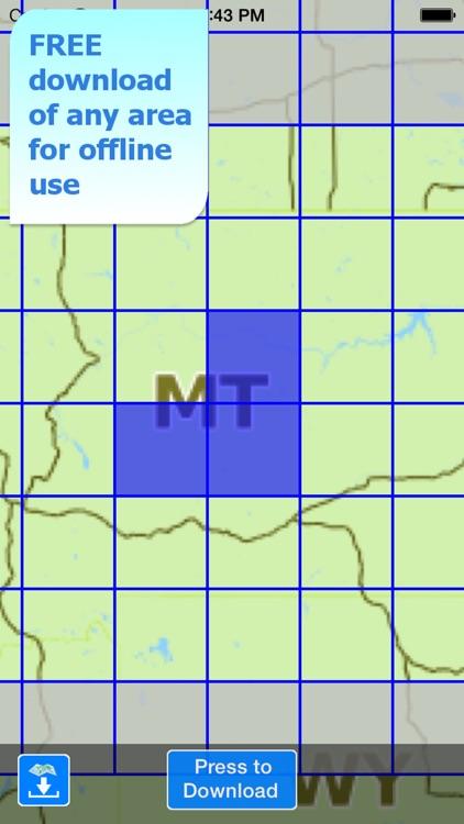 Aqua Map Montana Lakes GPS HD screenshot-4