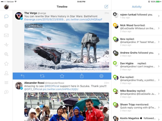 Tweetbot 4 for Twitter Screenshots