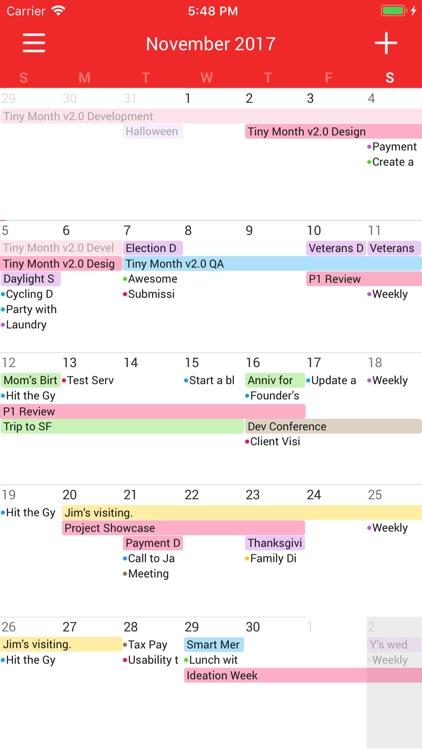 Tiny Month - Easy Calendar