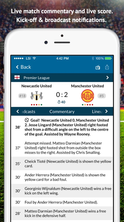 Live Soccer TV: Scores & Stats screenshot-1