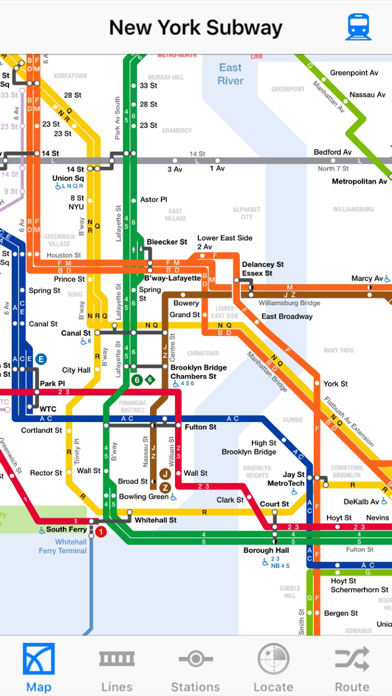New York Offline Subway Map.New York City Subway Revenue Download Estimates Apple App