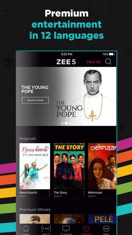 ZEE5 - Shows Live TV & Movies screenshot-4