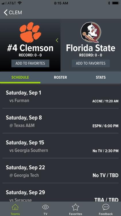 College Football App screenshot-9