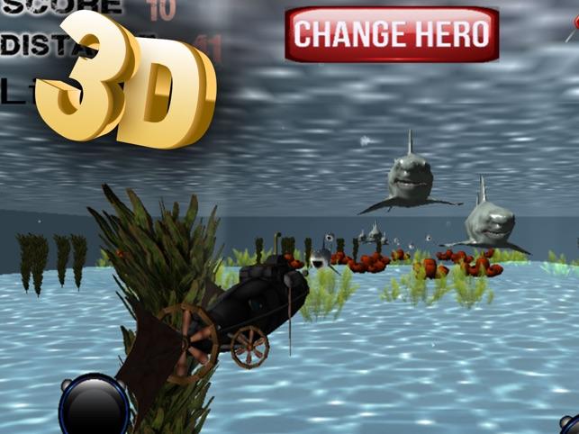 Blue Shark Submarine Simulator, game for IOS