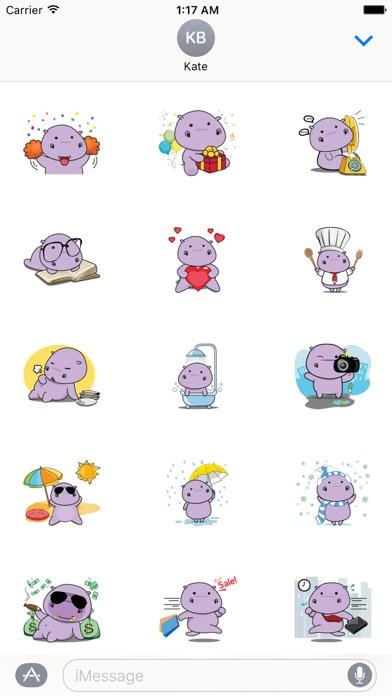 Chubby Hippopotamus Sticker screenshot 2